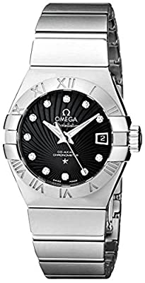 Omega Women's 123.10.27.20.51.001 Constellation Co-Axial Automatic 27mm Swiss Automatic Silver-Tone Watch