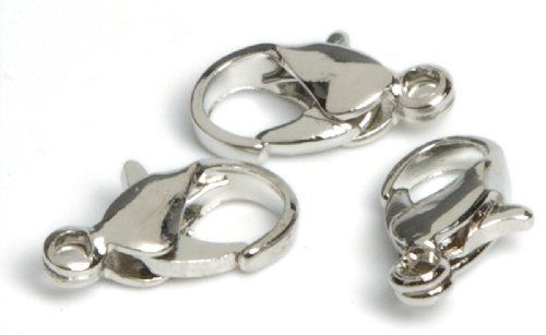 Cousin Jewelry Basics Silver Lobster Clasp, 7 by 9mm (Brooch Claw)