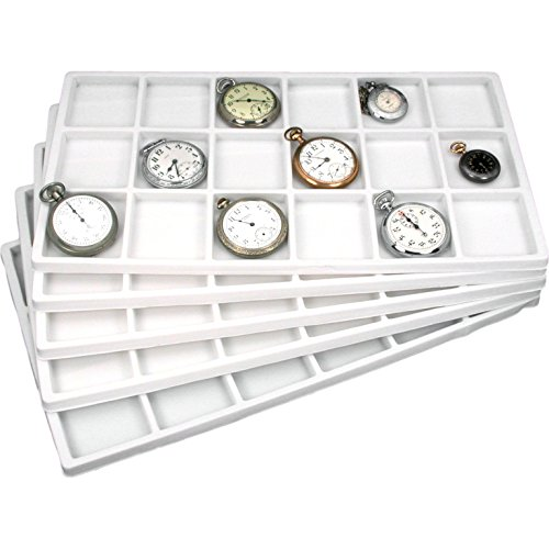FindingKing 90 Slot Jewelry Coin Gray Showcase Display Tray Insert (Chinet Kysserving Tray)