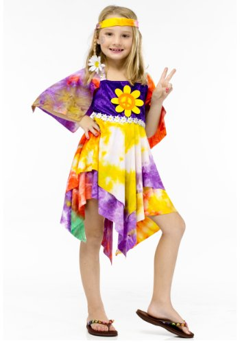 Daisy Hippie Child Costume - (Peace Love And Happiness Halloween Costumes)
