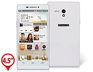 """HTM A6 P6 4.5"""" Capacitive Touch 854x480 Android 4.2 Dual Core MTK6572W 1.3GHz 512MB RAM & 4GB ROM 3G Smartphone with GPS, Wi-Fi, Bluetooth, Dual Camera (White)"""