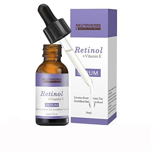 Uskincare Retinol Serum 2.5%-mit Hyaluronsäure & Vitamin E- Das BESTE Anti Falten, Anti Aging Serum-1 oz 30 ml