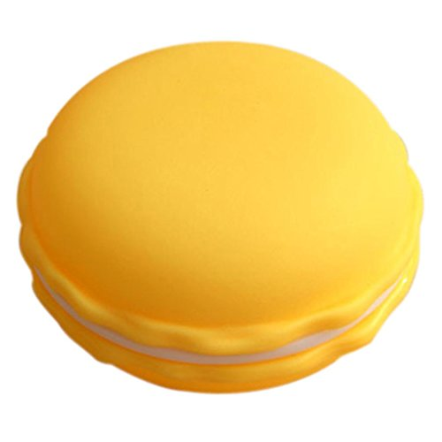 Leoy88 1pc Earphone SD Card Macarons Bag Big Storage Box Case Carrying Pouch (Yellow)