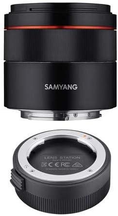 SAMYANG 45mm f/1.8 AF Ultra Compact Lens for Sony E Mount Lens Station for Sony E