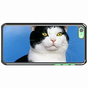 iPhone 5C Black Hardshell Case spotted muzzle eyes Desin Images Protector Back Cover