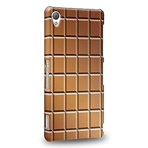 Case88 Premium Designs Art Chocolate Series Chocolate Bricks Bar Pattern Carcasa/Funda dura para el Sony Xperia Z3 (No Z3v ni Compact versión !)