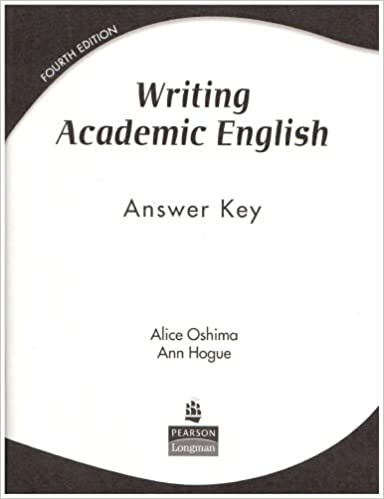 Writing academic english answer key ann hogue 9780131947016 writing academic english answer key ann hogue 9780131947016 amazon books fandeluxe Gallery