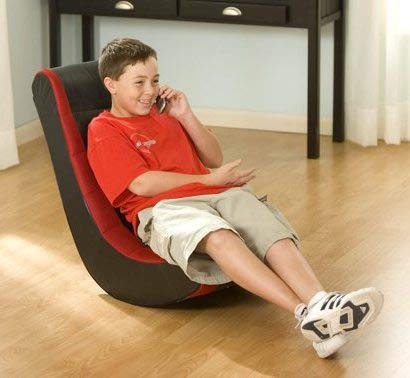 Gaming Chairs For Kids Or For Adults-Black Red Faux Leather Vinyl Polyurethane Foam Filling Perfect for Relaxing, Watching Movies, Listening to Music, Playing Games