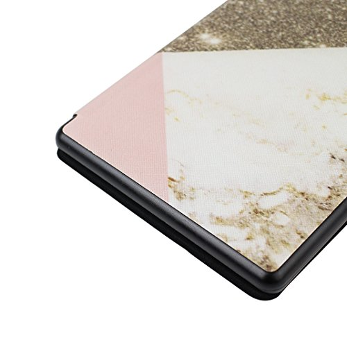 Kindle New Kindle 8th 558 2016 Lederhülle, Asnlove Ultra Slim Lightweight PU Ledertasche Schutzhülle Tasche Leather E-Reader Case mit Auto Sleep / Wake Tablet Smart Cover für Amazon Kindle 2016 8th Ge Color-1