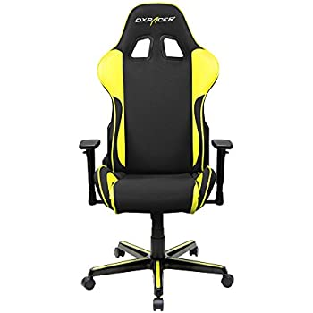 DXRacer Formula Series DOH/FH11/NY Newedge Edition Racing Office Chair Recliner Esport Dreamhack PC Gaming Chair Ergonomic Computer Mesh Chair Rocker Comfortable Chair With Pillows (Black/Yellow)