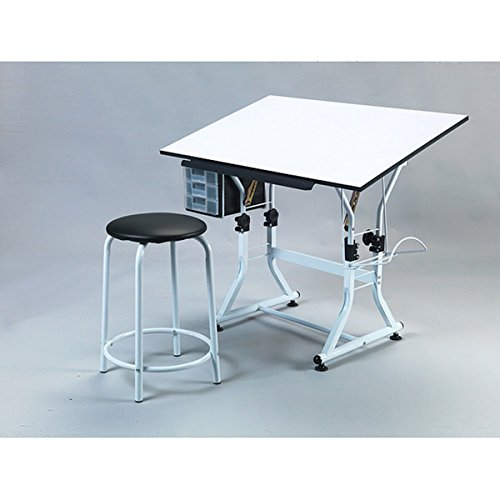 Martin UniversaleDesign Ashley Creative White Drafting and Hobby Craft Table Set by Martin Universal Design