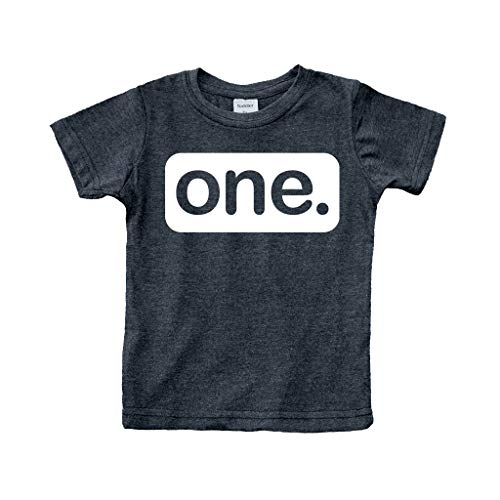 First Birthday Outfit boy 1st Birthday boy Gifts one Year Old Baby Boys Shirt (Charcoal Black, 12m)