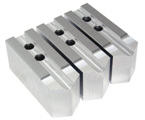 AccuJaws AJKT05-2A 3 Piece Aluminum Chuck Soft Jaws Set for Kitagawa B-05 Type with 1.5mm x 60 Degrees Serrations CNC Power Chucks, 2'' Height x 0.394'' Groove Width