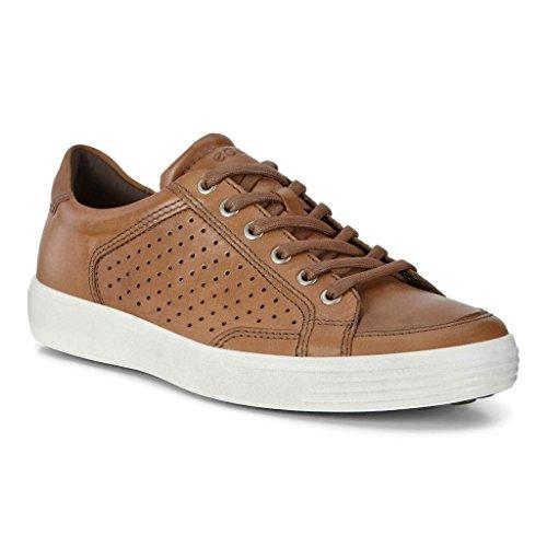 ECCO Men's Soft 7 Sneaker, Whisky Retro Perforated, 43 EU/9-9.5 US