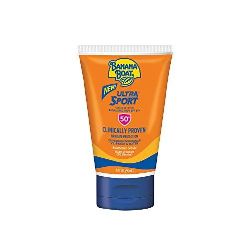 - Banana Boat Ultra Sport Sunscreen Lotion, New Formula, SPF 50, TSA Approved Travel Size, 2 Fl Oz, Pack of 3