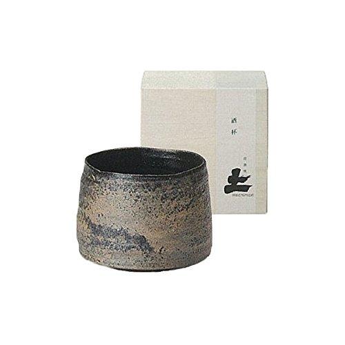Japanese Ceramic Shigaraki ware. Yusho sake cup with wooden box. 3-1162
