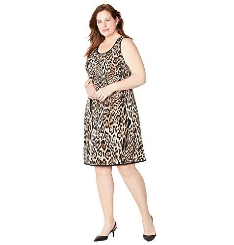 - Avenue Women's Leopard Print Sheath Dress, 18/20 Animal Print