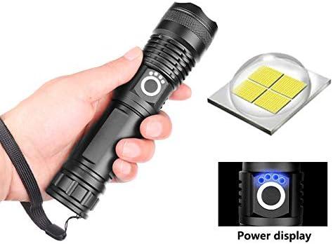 Super helle Taschenlampe LED 90000LM USB wiederaufladbare Tourch Military Torch