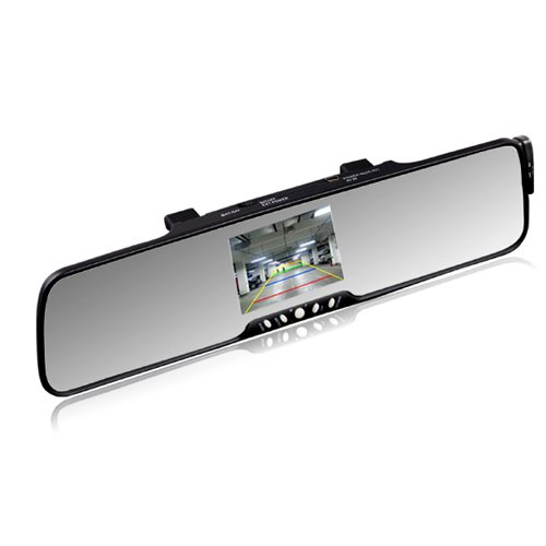 """Image of Sourcingbay 3.5"""" Tft Lcd Bluetooth Rearview Mirror With Wireless Camera(Ultra-Thin Bluetooth Rearview Mirror)"""