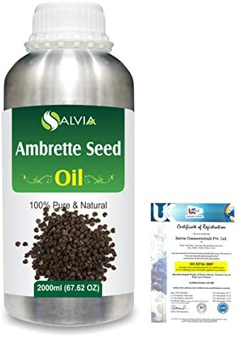 Ambrette Seed (Abelmoschus Moschatus) 100% Natural Pure Essential Oil 2000ml/67 fl.oz.
