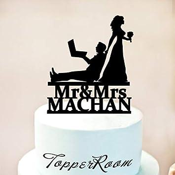 Programador de computadora, decoración para tarta de boda ...