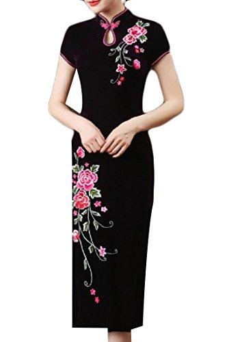 Ricamo Cinesi Viola Più donne Coolred Formato Misura Abito Premio Abiti 1zX0zA