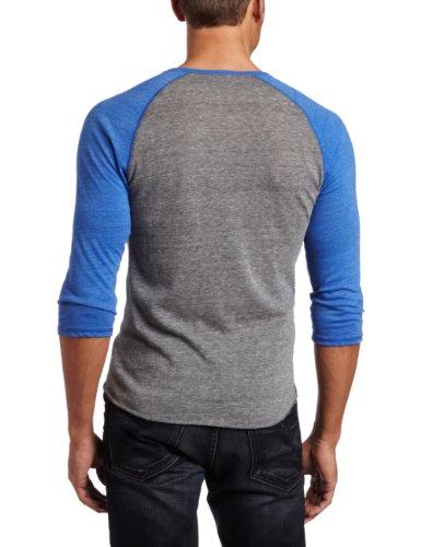 Alternative Men's 3/4 Sleeve Raglan Henley
