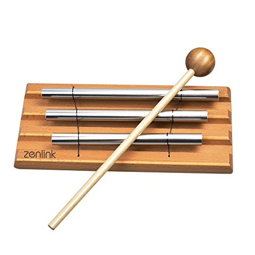Meditation Chime Zenlink Yoga Chime Silver Chime-Tabletop Chimes Educational Musical Toy Percussion Instrument with Mallet-For Kids and adults. by Zenlink