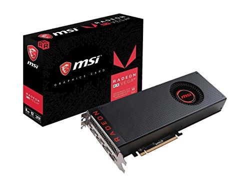 Price comparison product image MSI Radeon RX Vega 64 8G DirectX 12 2048-Bit HBM2 HDCP and VR Ready CrossFireX Graphics Card Black / Red