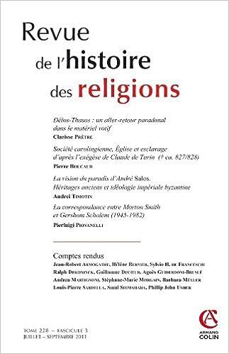 En ligne téléchargement Revue de l'histoire des religions - Tome 228 (3/2011) epub, pdf