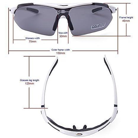 ROCKBROS Bike Polarisierte Fahrradbrillen Radfahren Sportbrillen Sonnenbrillen Goggles Sunglasses CS011 wS3i781