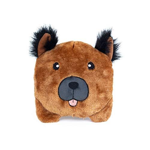 ZippyPaws - Bun Matching Dog Breed Plush Pillow Dog Toy - German Shepherd