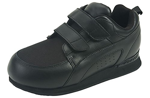 - Pedors Womens Stretch Walker Black Leather Walking Shoes 8.5 E US Women