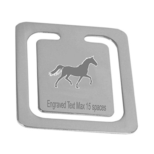 Engraved Stud Cufflinks - Silver Plated Engraved Stud Race Horse Bookmark~Personalised Logo Page Bookmark~Boxed