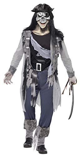 Smiffy's Ghost Ship Haunted Swashbuckler Costume, Multi, -
