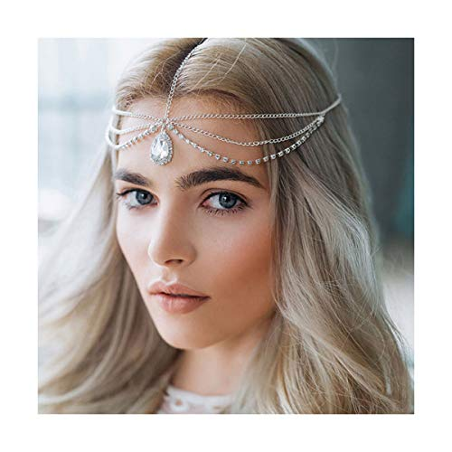 Arabian Head Piece - A&C Handmade Rhinestones Bridal Wedding Headband