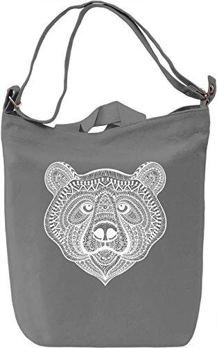 Ornament bear Borsa Giornaliera Canvas Canvas Day Bag| 100% Premium Cotton Canvas| DTG Printing|