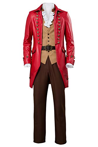 Mens Gaston Cosplay Costume Uniform Halloween Dress Up Party Outfit Suit Full Set