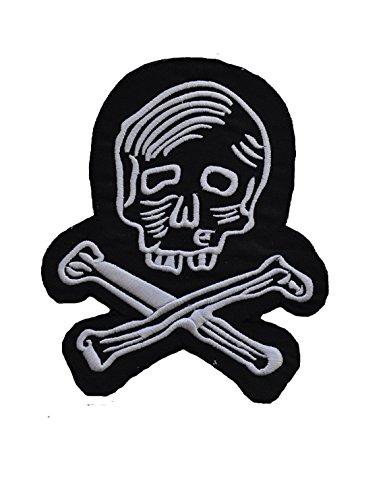 7' Bone (Patch Embroidery Skull and Bone Black 7' x 5.5')