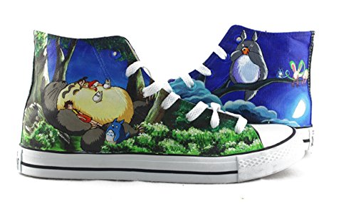 - My Neighbor Totoro Anime Sneakers Anime Shoes Hand Painted Canvas Shoes Gifts High Top Sneakers Gifts Men Women Sneakers Free Shipping