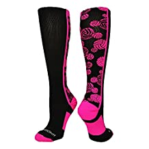 MadSportsStuff Crazy Volleyball Logo Over the Calf Socks