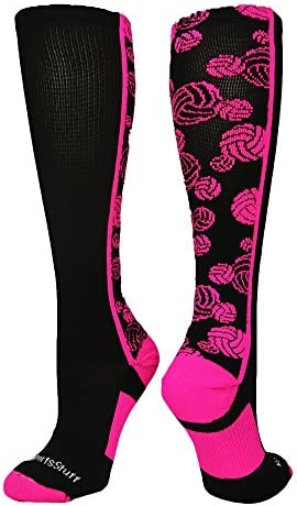 Crazyバレーボールロゴover the calf Socks