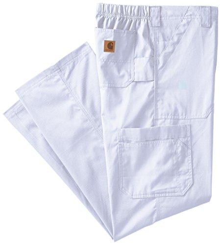 Carhartt Size Ripstop Men's Multi-Cargo Scrub Pant Tall, White, Medium (White Cargo Pants)