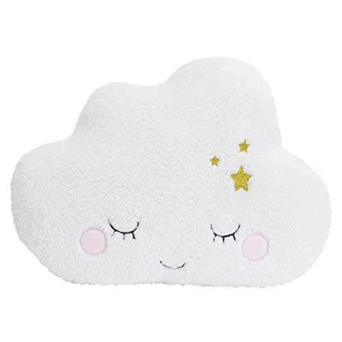 Little-Love-by-NoJo-Cloud-Shaped-Pillow-White