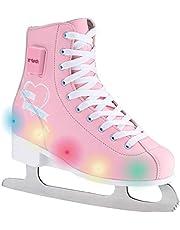 X-TECH Ice Princess Led-schaatsen, traploos in grootte verstelbaar, meegroeiend, knipperlichten