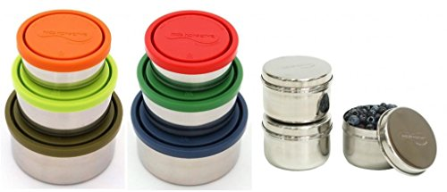 Kids Konserve Stainless Steel Complete Snack Container Set