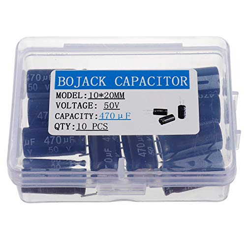 - BOJACK 10X20mm 470uF 50V 470MFD 50Voltage ±20% Aluminum Electrolytic Capacitors(Pack of 10 Pcs)