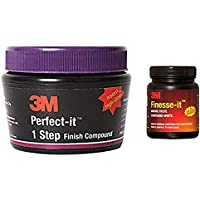 3M IA260165237 Perfect-It 1-Step Finish Compound (100 g) & IA110109286 Finesse It Marine Paste (FMP, 200 g) Combo