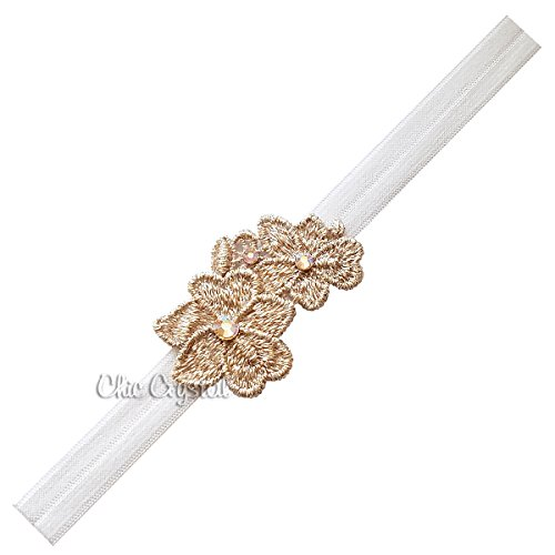 Rose Gold Stretch Headband for Baby Girls (3-6month)