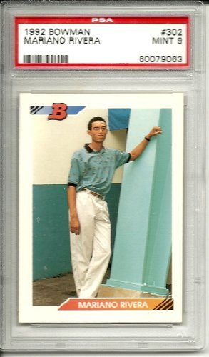1992 bowman mariano rivera rookie graded psa 9